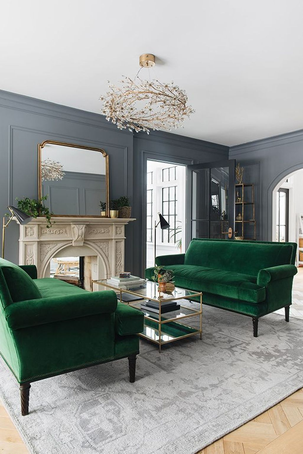 Cozy Green Livingroom Ideas 35