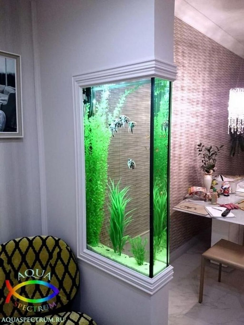 Amazing Aquarium Design Ideas Indoor Decorations 15