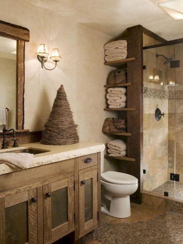 Awesome Country Mirror Bathroom Decor Ideas 43