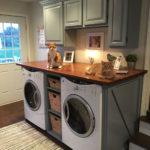 Modern Basement Remodel Laundry Room Ideas 16