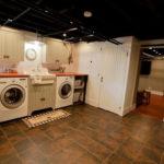 Modern Basement Remodel Laundry Room Ideas 27