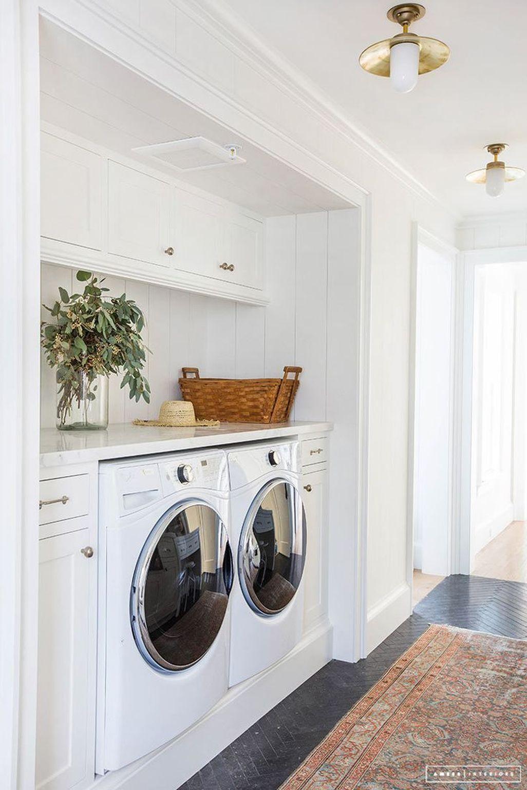 Modern Basement Remodel Laundry Room Ideas 32