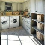 Modern Basement Remodel Laundry Room Ideas 35