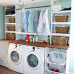 Modern Basement Remodel Laundry Room Ideas 37
