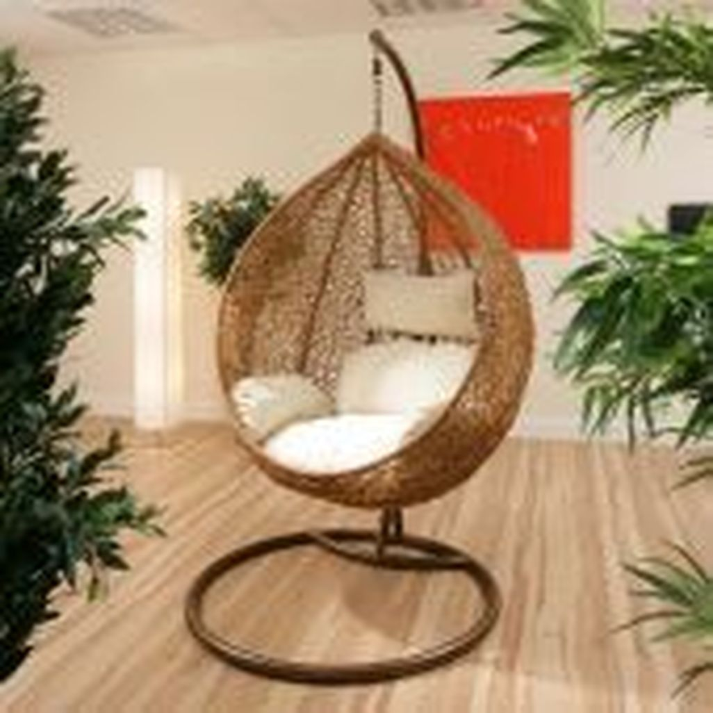 41 Modern Hanging Swing Chair Stand Indoor Decor - HOMISHOME