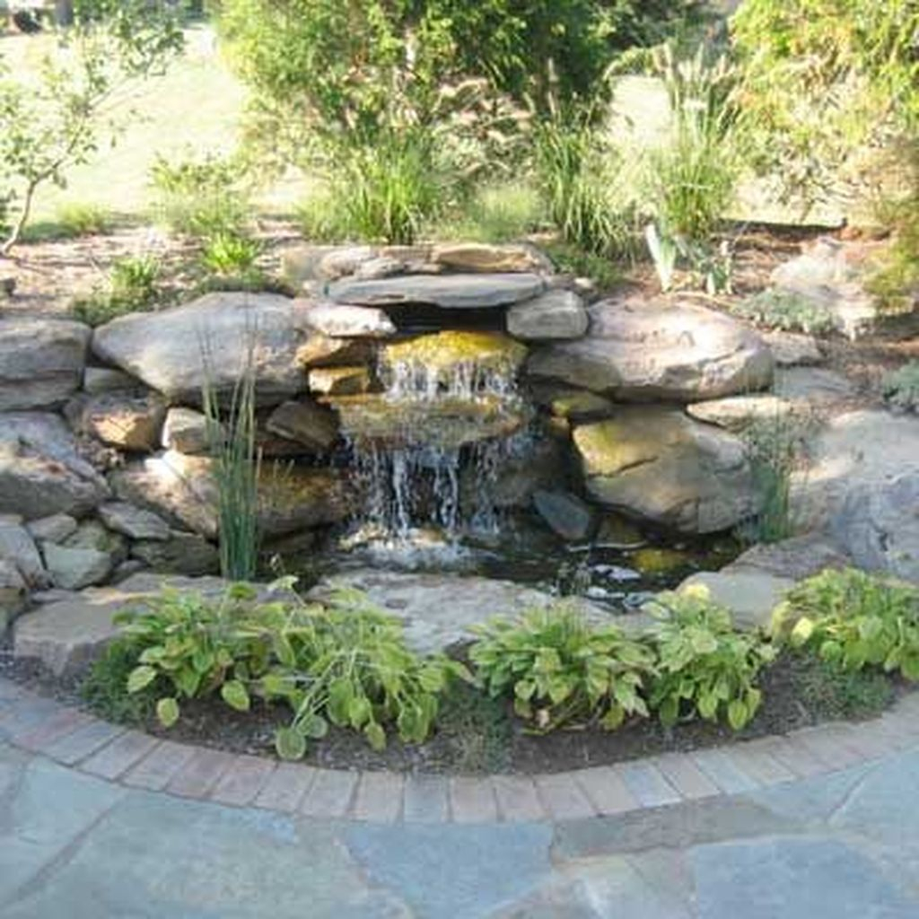 41 Awesome Small Waterfall Pond Landscaping Ideas Backyard ... on Small Backyard Pond id=95611