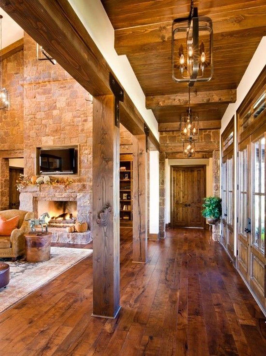 Inspiring Rustic Wooden Floor Living Room Design05