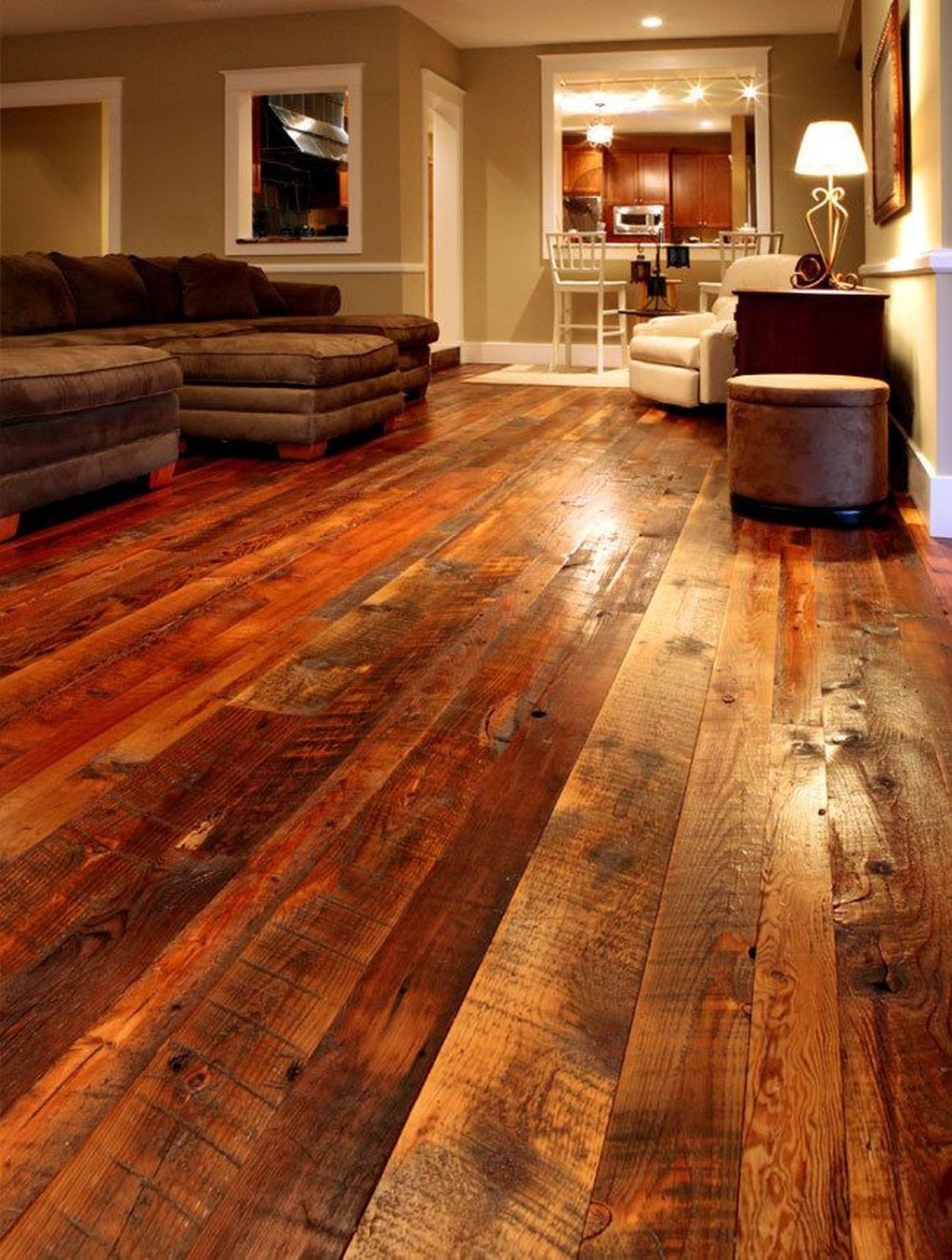 Inspiring Rustic Wooden Floor Living Room Design21