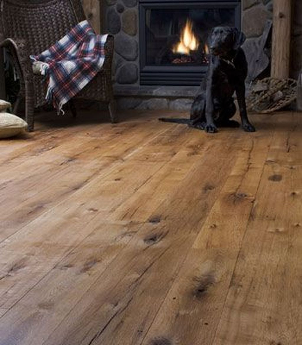 Inspiring Rustic Wooden Floor Living Room Design23