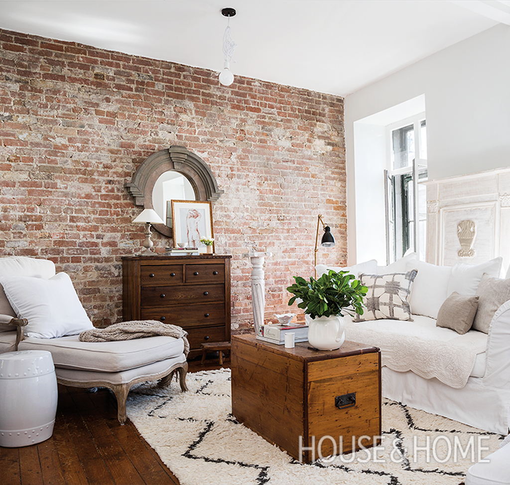 48 Ispiring Rustic Elegant Exposed Brick Wall Ideas Living ...