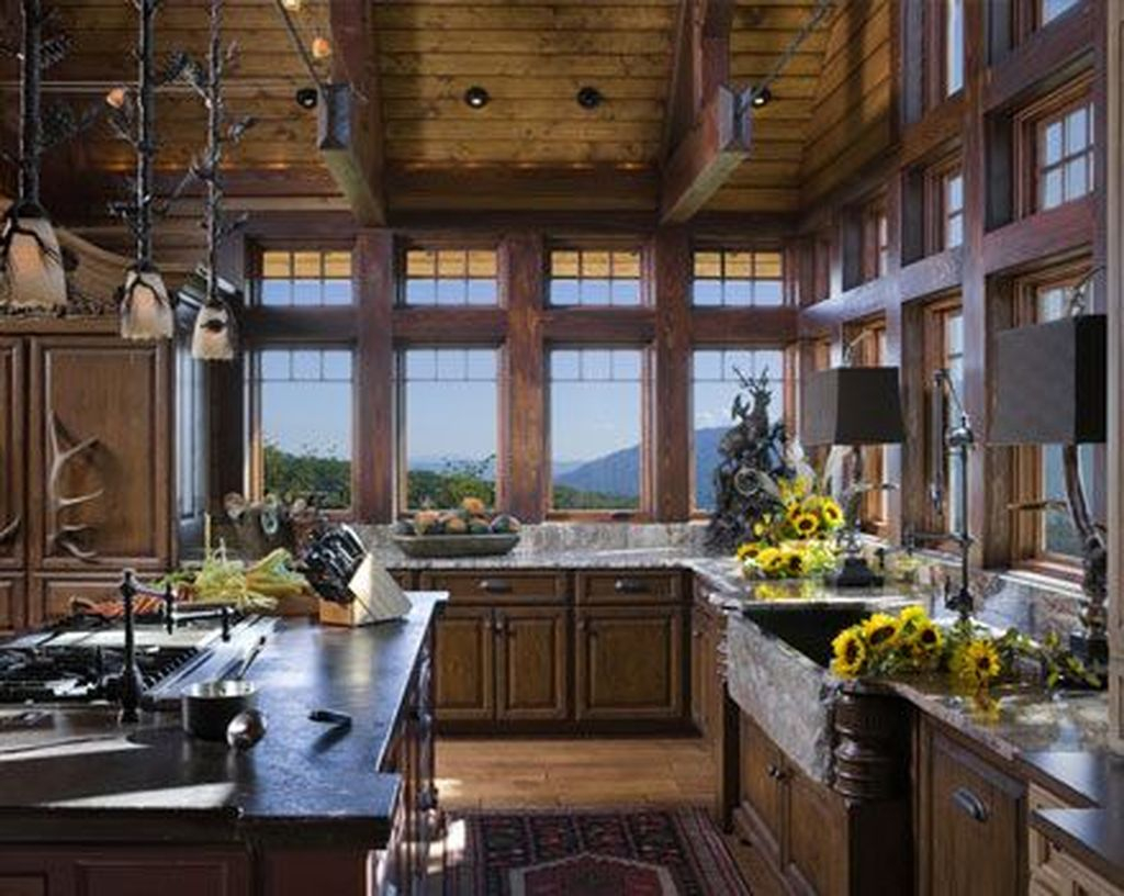Home Design Ideas Buch: 42 Lovely Rustic Western Style Kitchen Decorations Ideas