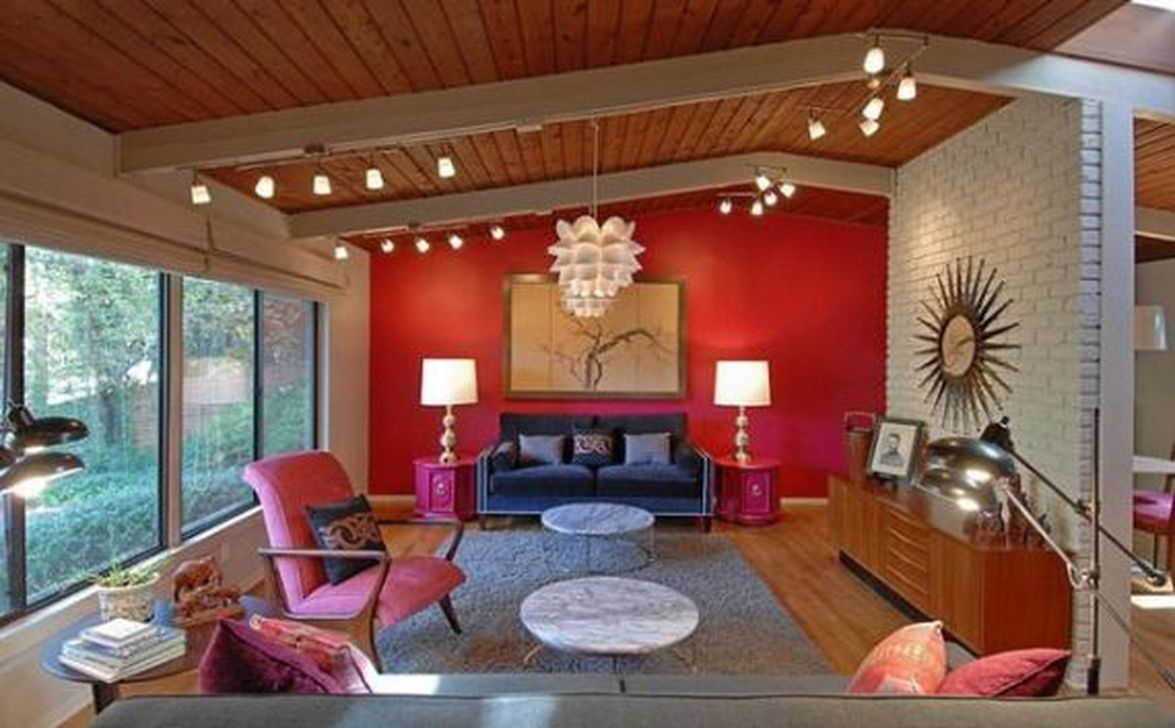 Amazing Red Apartment Living Room For Valentine39