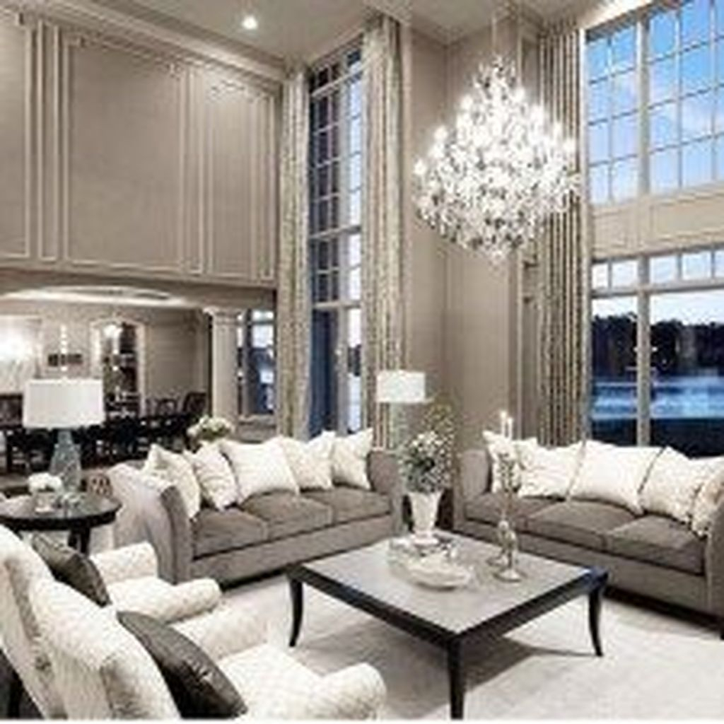 40 Luxurious And Elegant Living Room Design Ideas - HOMISHOME