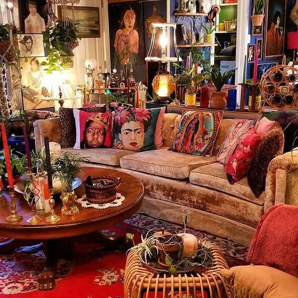 35 Charming Boho Living Room Decorating Ideas With Gypsy ...