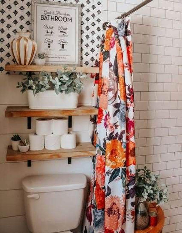 Fabulous Bathroom Design Ideas With Boho Curtains39