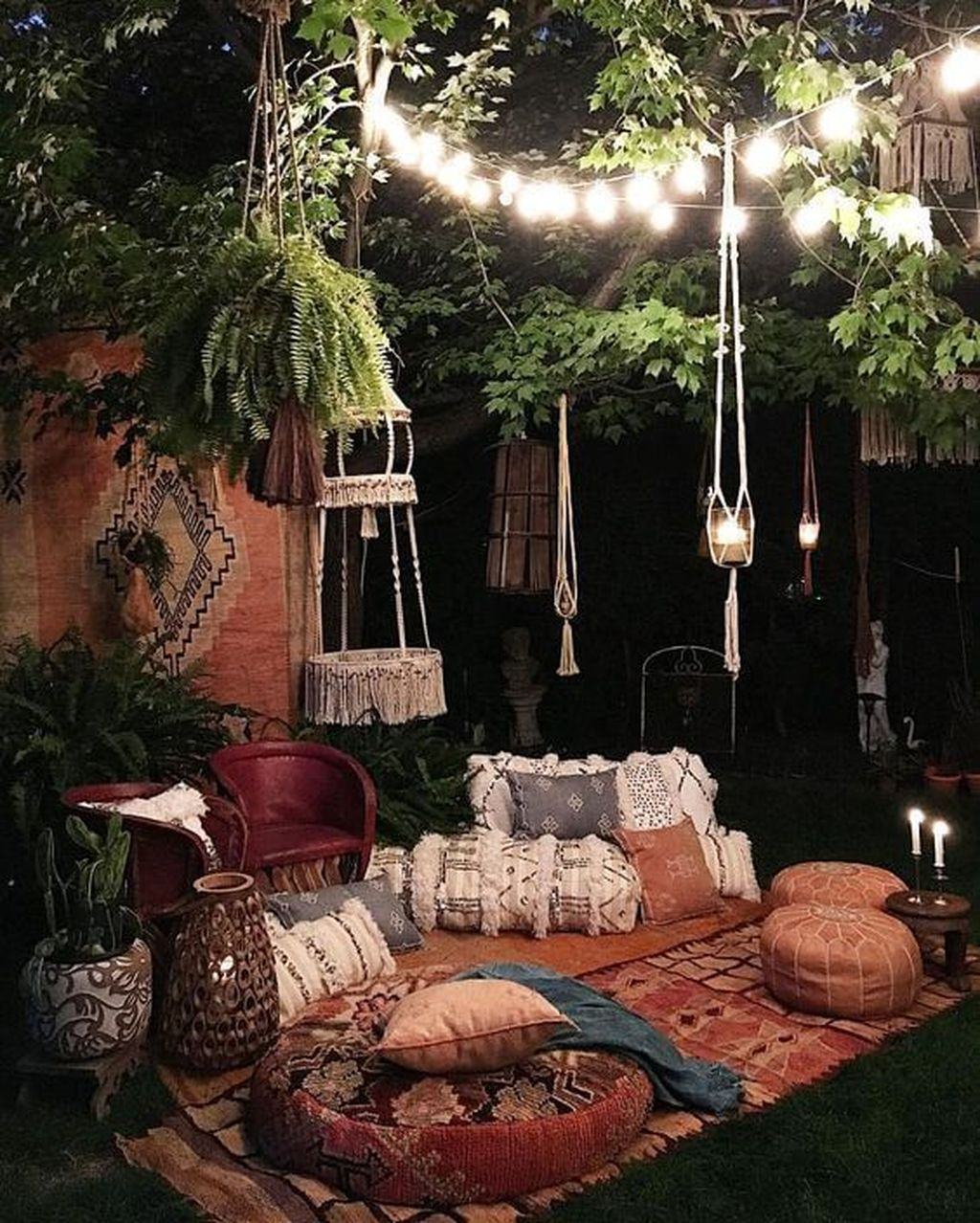 Inspiring Boho Outdoor Decorating Ideas For Backyard19