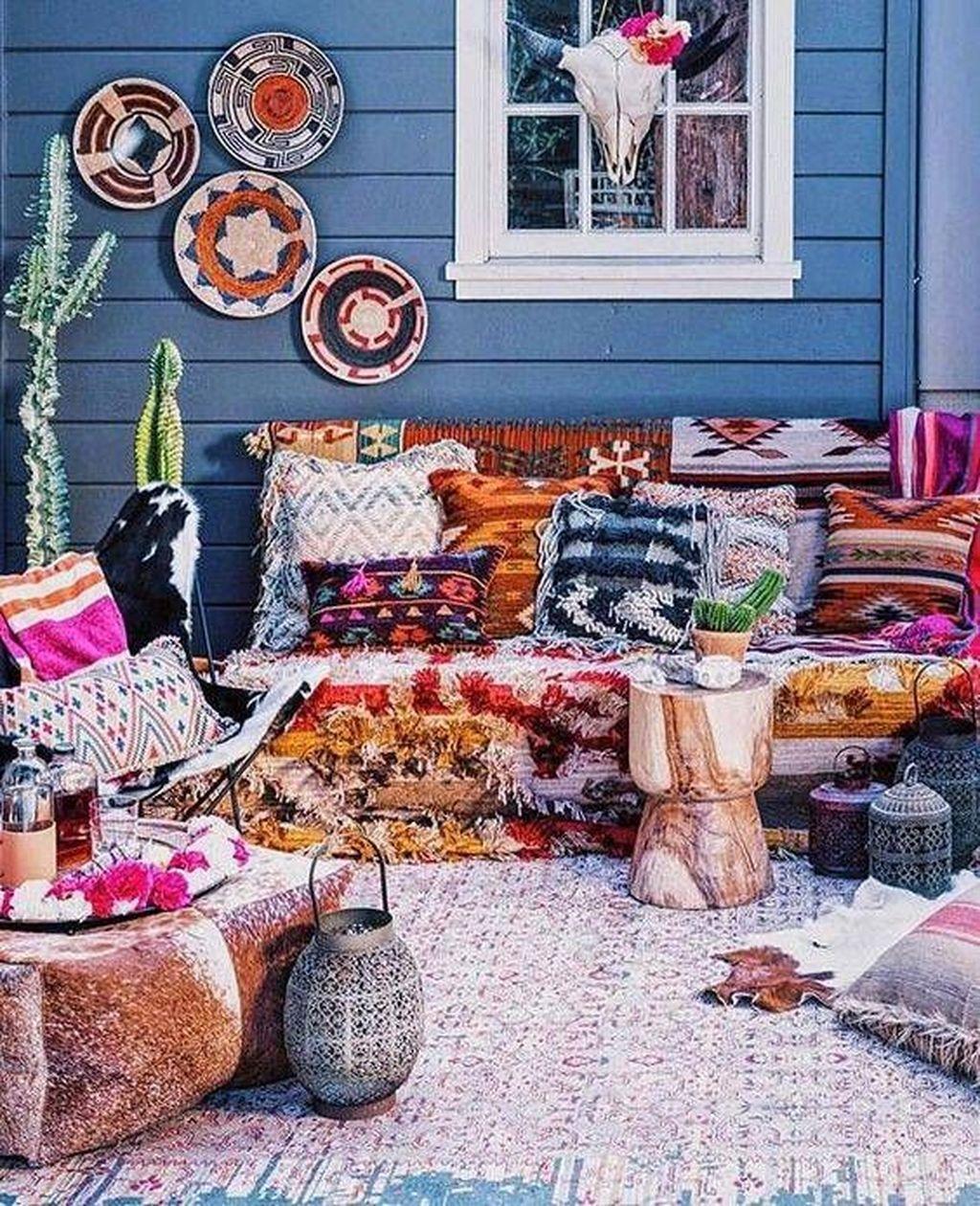 Inspiring Boho Outdoor Decorating Ideas For Backyard21