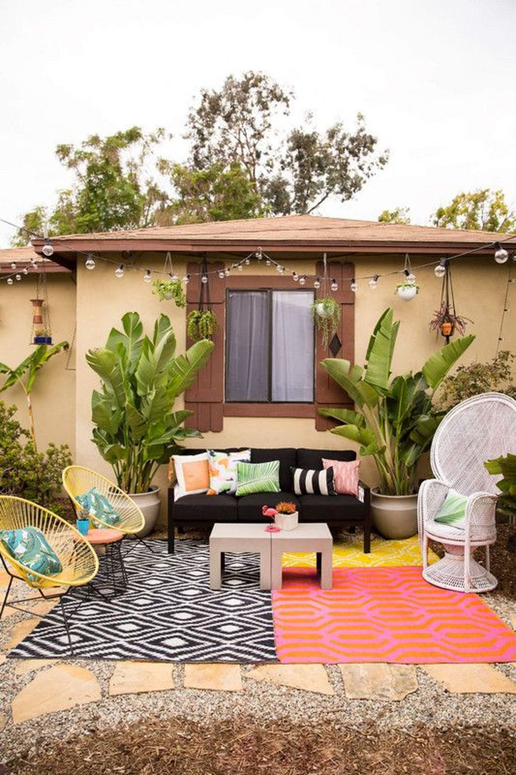 Inspiring Boho Outdoor Decorating Ideas For Backyard43