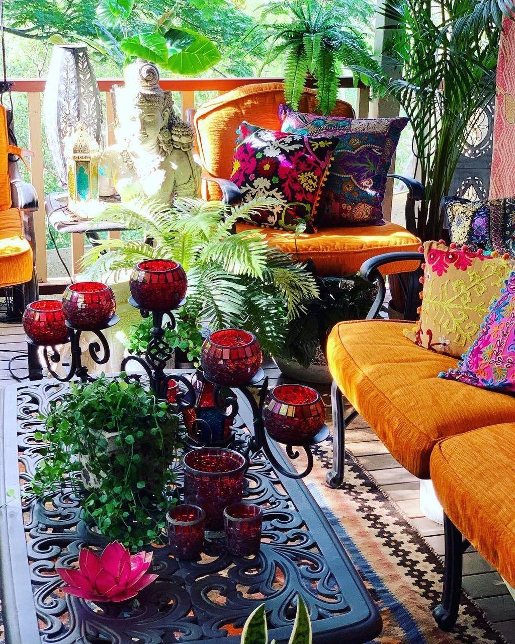 Inspiring Boho Outdoor Decorating Ideas For Backyard46