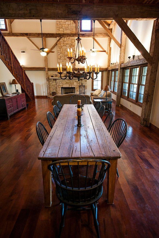 Pretty Farmhouse Table Design Ideas For Kitchen40